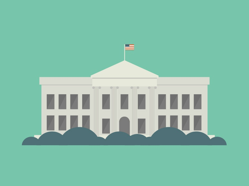 The White House illustration the white house motion animation motion graphics