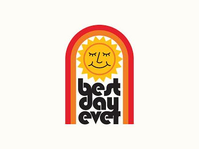 Best Day Ever: Sunrise design 1970s colorado cannabis branding ui outdoors icon flat illustration logo