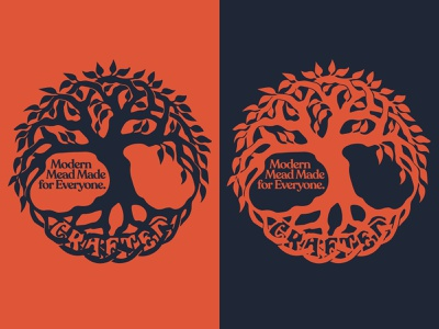 Crafted Yggdrasil One Color ui vector branding icon mythology apparel mead viking norse outdoors design flat illustration logo