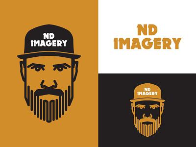 ND Imagery face monoline ohio logo columbus photography brand beard