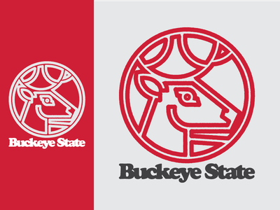 A Buckeye State of Mind apparel ohio illustration merch ohio state football profile icon flat deer logo