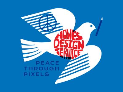 Pixels for Peace shapes usa activism illustration design icon flat dove logo