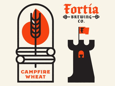 Fortia Favors The Bold identity brand latin symbols packaging design icon flat brewing logo