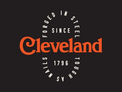 Livin' In Sin With A Safety Pin, Cleveland Rocks apparel industrial typeface type cleveland design icon flat typography logo