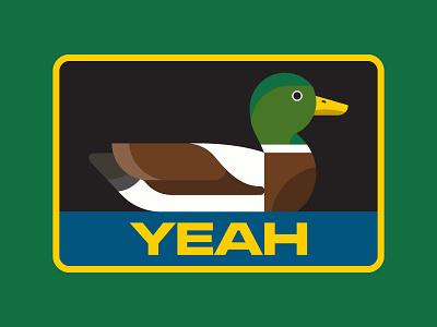 Fowl Language duck outdoors park nature apparel design icon flat patch logo