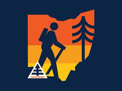O-Hike-O ohio outdoors park nature hiking design icon flat adventure logo