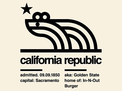 The Golden Ratio State layout international style illustration bear simple california grid modernist logo