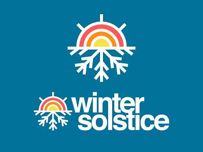 The Sound of Solstice sunrise badge solstice apparel christmas winter design icon flat snow logo
