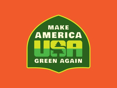 Pa-tree-otism outdoors usa environment politics tree sticker patch badge activism poster lettering logo