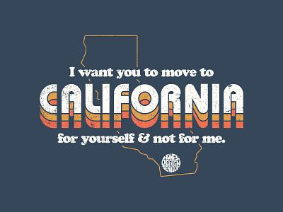 California Dreamin' music simple ui 1970s california retro vintage flat lettering typography apparel logo
