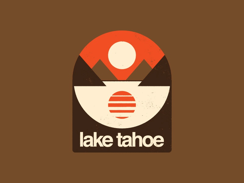Tabros Before Tahoes tahoe california 1970s badge outdoors apparel mountain retro design icon flat logo