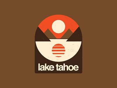 Tabros Before Tahoes tahoe california 1970s badge outdoors apparel mountain retro design icon flat logo
