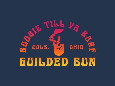 Boogie Till Ya Barf marijuana illustration peace hippie psychedelic band rock and roll cannabis stoner merch apparel logo