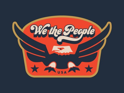 Land of the Free, Home of the Whopper sticker flat badge independence typography color retro vintage 1970s eagle illustration america