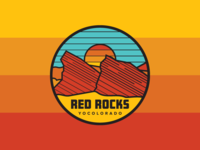 Red Rocks Badge