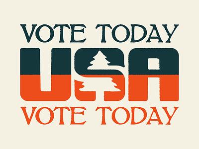 Get off Dribbble, Get to the Polls politics vote vintage america usa apparel illustration rustic tree logo voting