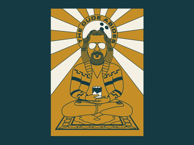 I Like Your Style, Dude simple design flat  design typography vector mono weight illustration psychedelic big lebowski movie poster