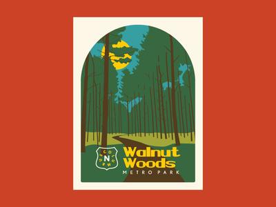 Walnut Woods WPA MetroPark Poster