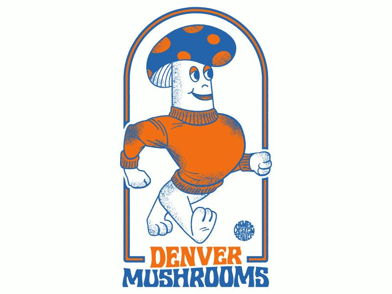 Mind-Expansion Team colorado denver grain texture character design typography parody vintage psychedelic mushrooms magic mascot illustration