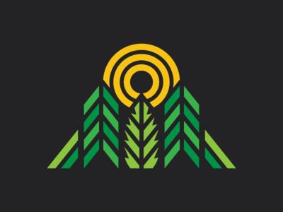 Hemp Seed Connection cannabis branding simple california cannabis ui branding retro outdoors icon flat illustration logo