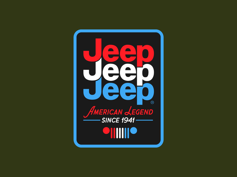 American Legend simple branding badge outdoors icon flat sticker apparel licensing tactical red white and blue retro patch