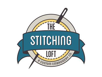 The Stitching Loft: Logo logo sewing stitching stitches embroidery loft needle ribbon badge