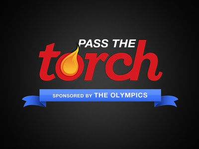 Pass the Torch torch sports olympics flame app identity logo