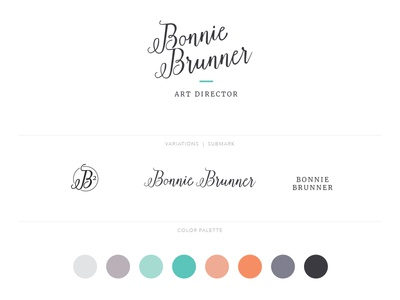 Personal Brand Elements design guidelines identity color palette logo brand