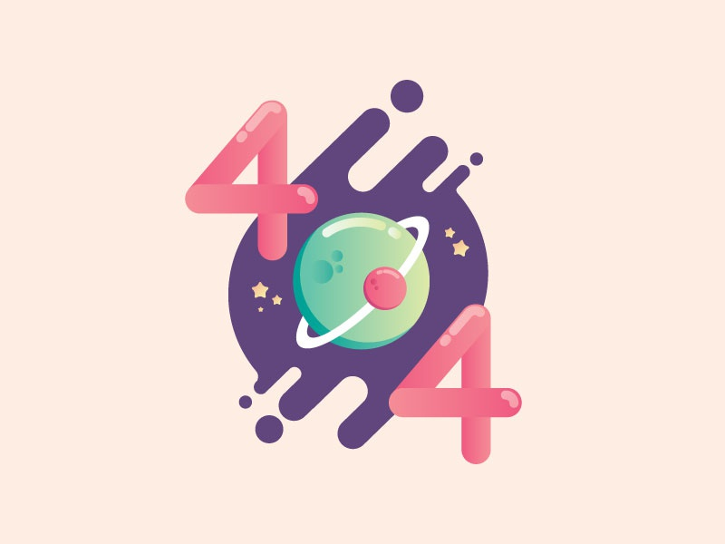 Error ui vector illustration 404 error page stars space error 404