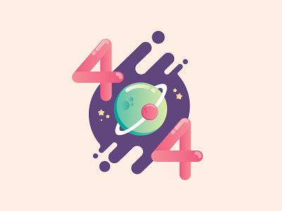 Error ui vector illustration 404 error page stars space error 404