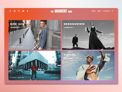 The Gradient Shop store shop gradient ui ux template website wix