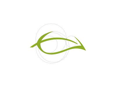 Releaf mark symbol calm chill relax body massage logo realeaf