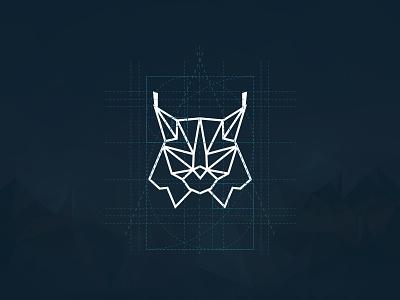 Lynx Symbol lowpoly geometry mark logo symbol animal lynx