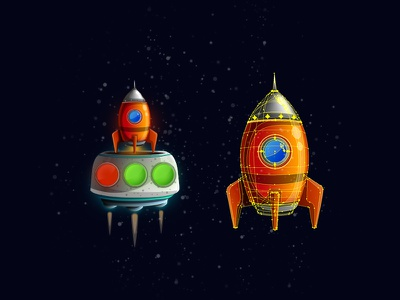 MiniMoons vector space rocket assets gameartist gameart gaming
