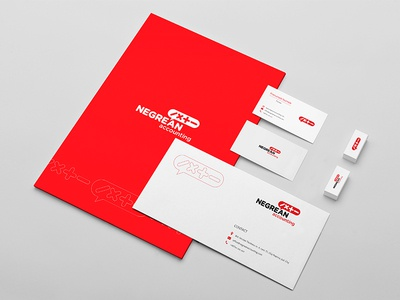 Negrean accounting folder envelope preview lost and found stationery design