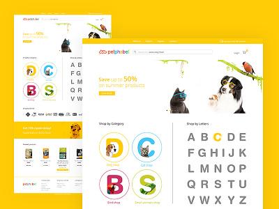 Petphabet website animals dog dogs pets ecommerce