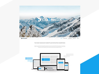Connatix - Logo and Website advertisers publishers landing page website logo native advertising connatix