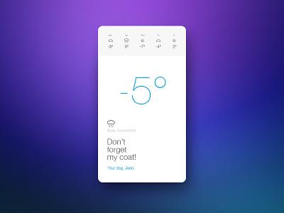 Weather App weather application simple ux design ui design app meteo