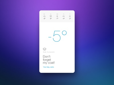 Weather App weather application simple ux design ui design app meteo