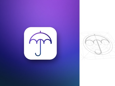 Weather App Icon umbrella shape style ios icon app meteo weather