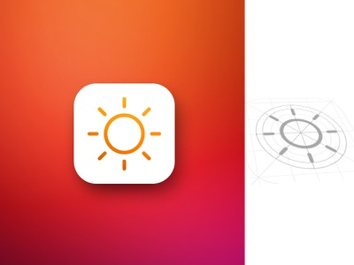 Weather App Icon 2 product user interface meteo sun hot color warm icon app weather
