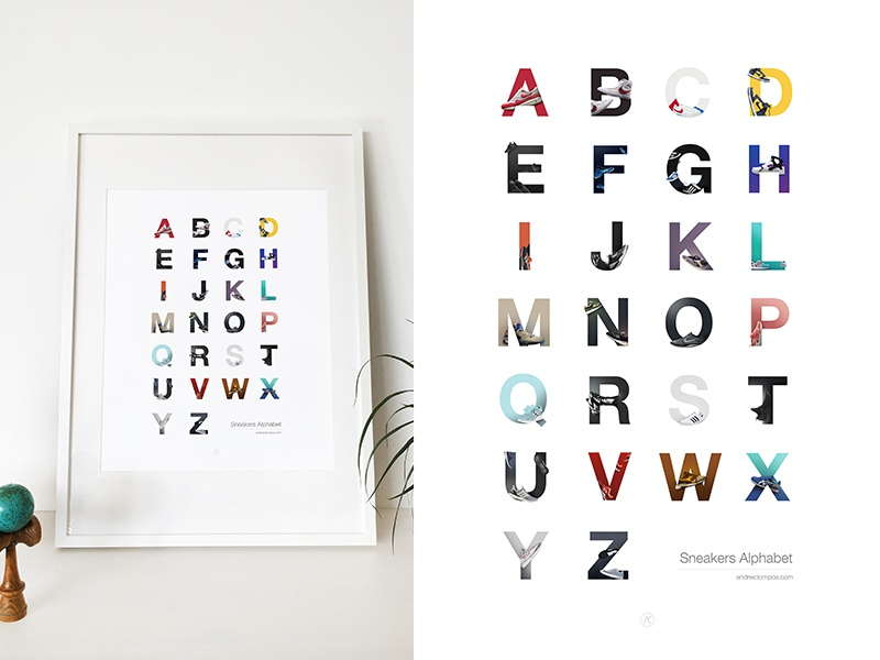 Sneakers Alphabet shoes alphabet typography sneakers sneakersalphabet