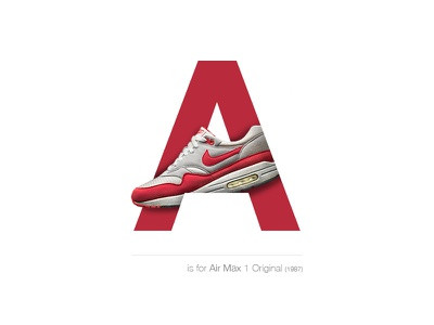 Air Max 1 Original 1987 switzerland basel a airmaxoriginal airmax1 airmax sneakersalphabet sneakers