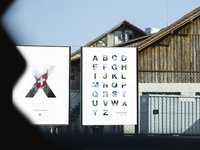 Poster swiss alphabet biel