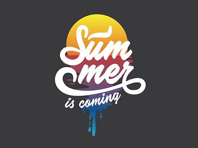 Summer Tee Dribbble sunset tee shirt design summer