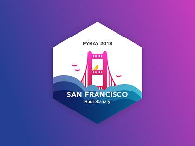 Sticker for PyBay 2018 san francisco python pycon pybay sticker