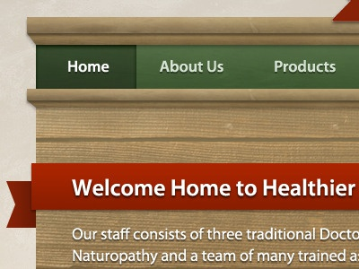 Header header web navigation myriad pro wood texture ribbon