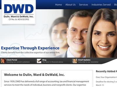 Dulin, Ward & DeWald, Inc. Website responsive web website