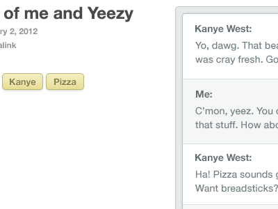 Tags, Chat, and More tags chat kanye tumblr