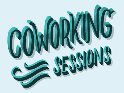 Sac Desco's Coworking Sessions typography illustration hand lettering lettering